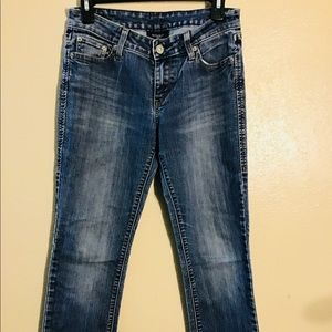 Levi's Mid Rise Straight Blue Jeans Size 2M